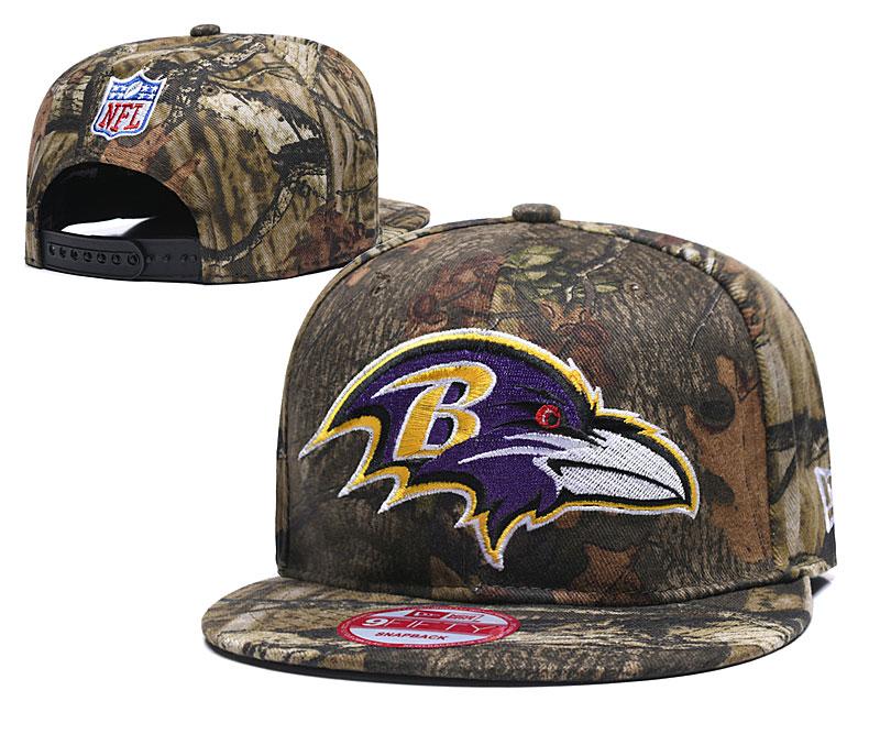Ravens Team Logo Olive Adjustable Hat LH