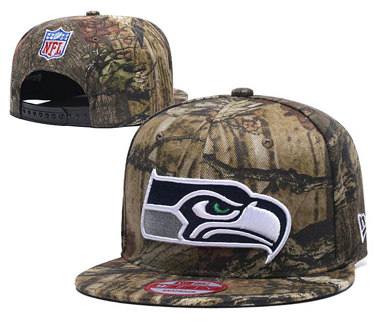 Seahawks Team Logo Olive Adjustable Hat LH