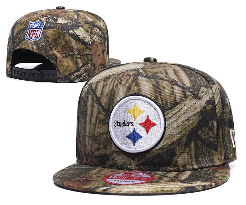 Steelers Team Logo Olive Adjustable Hat LH