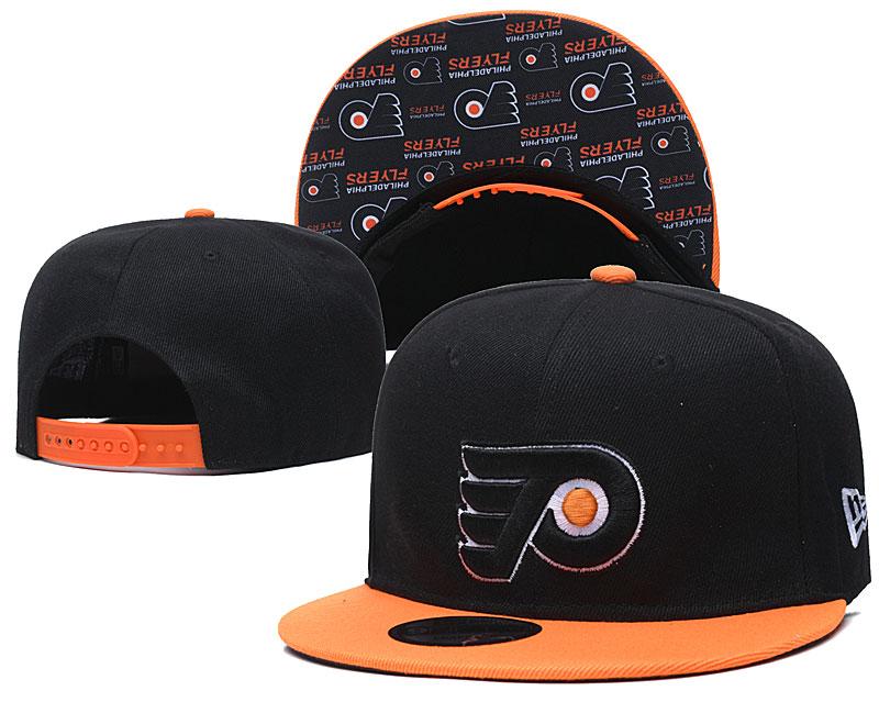 Flyers Team Logo Black Adjustable Hat LH