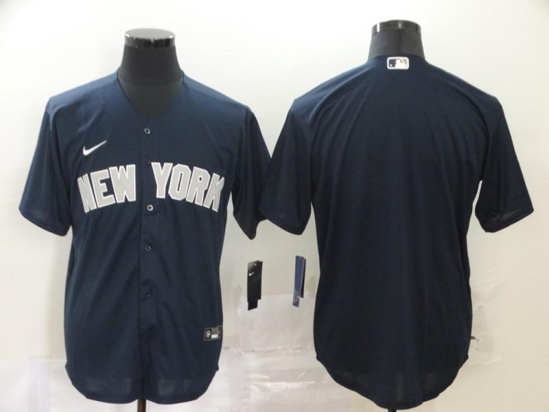 Yankees Blank Navy 2020 Nike Cool Base Jersey