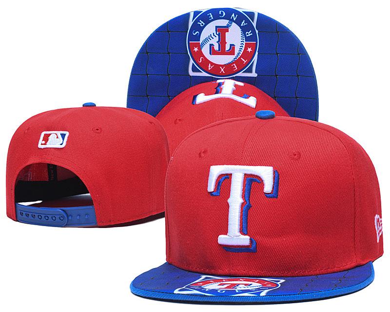 Rangers Team Logo Red Adjustable Hat TX
