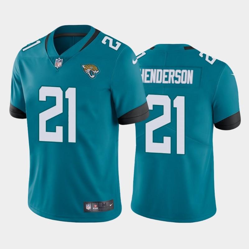 Nike Jaguars 21 C.J. Henderson Teal 2020 NFL Draft First Round Pick Vapor Untouchable Limited Jersey