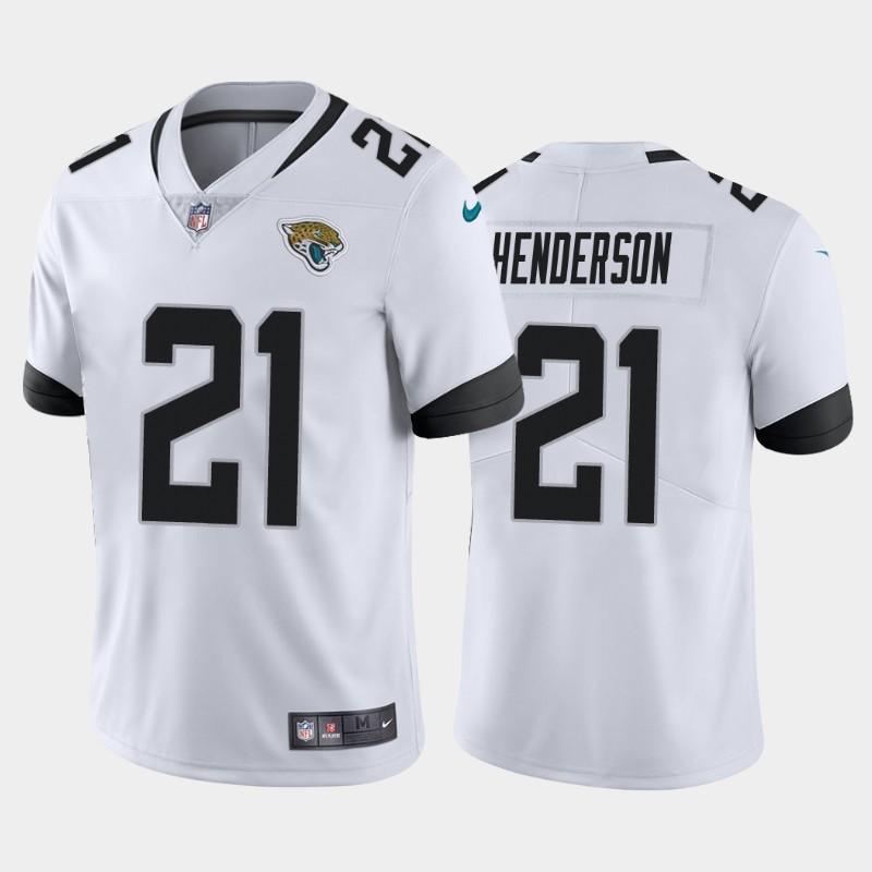 Nike Jaguars 21 C.J. Henderson White 2020 NFL Draft First Round Pick Vapor Untouchable Limited Jersey