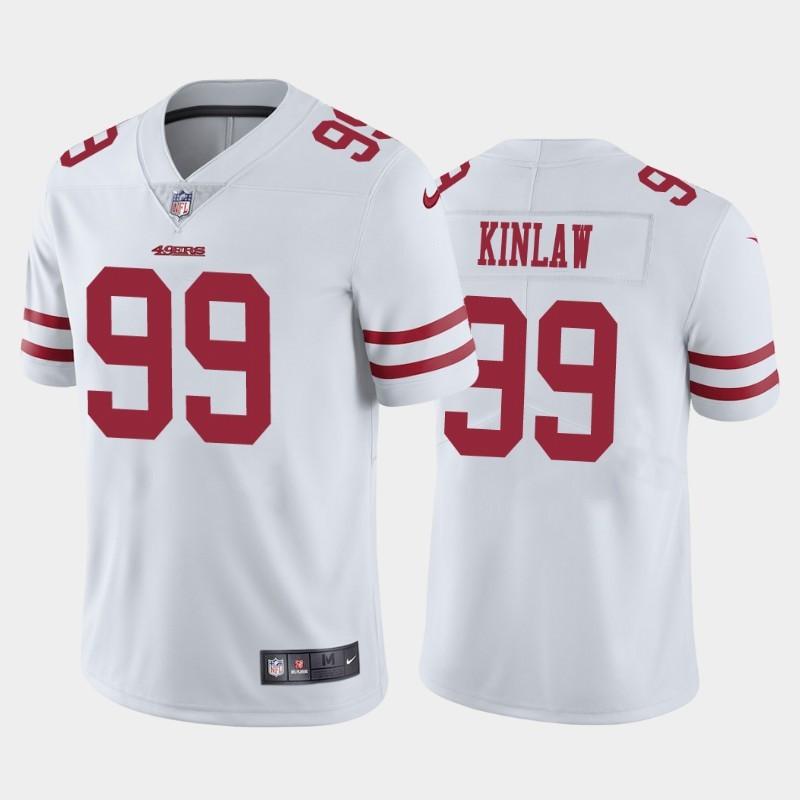 Nike 49ers 99 Javon Kinlaw White 2020 NFL Draft First Round Pick Vapor Untouchable Limited Jersey