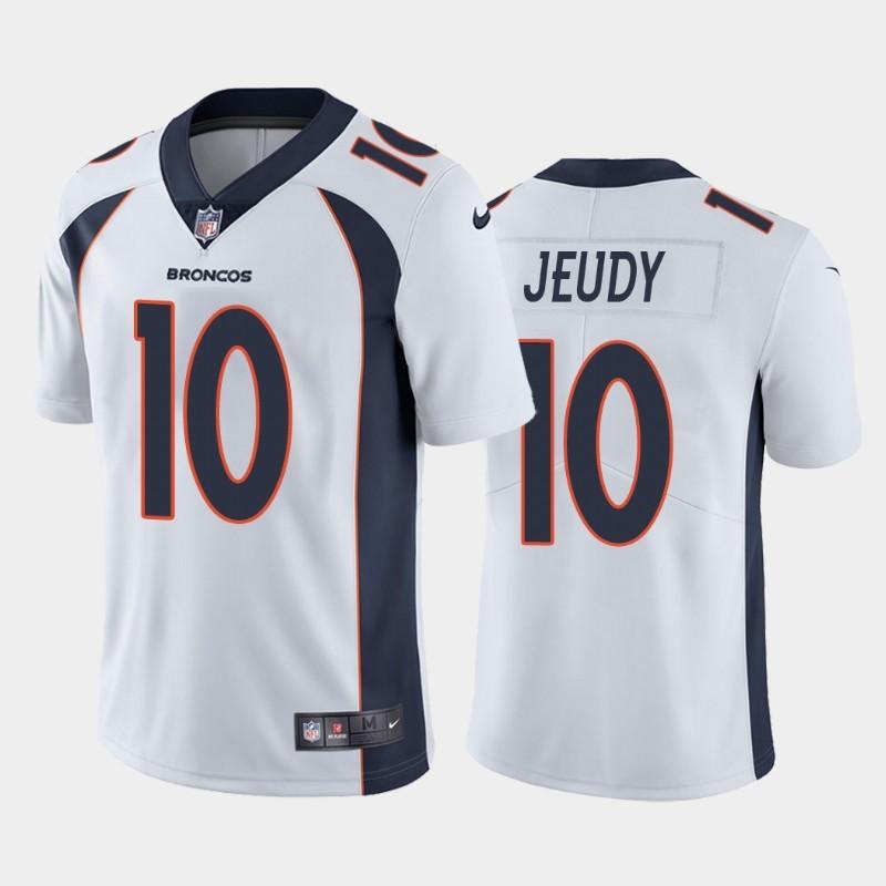 Nike Broncos 10 Jerry Jeudy White 2020 NFL Draft First Round Pick Vapor Untouchable Limited Jersey