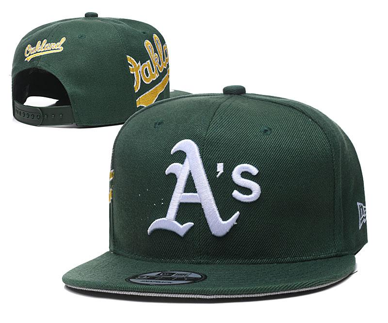 Athletics Team Logo Green Adjustable Hat YD