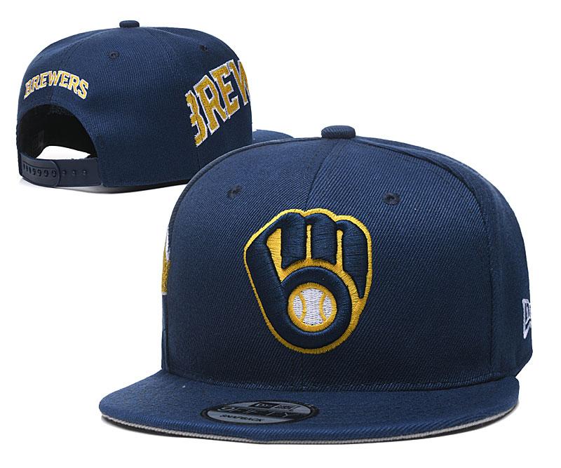 Brewers Team Logo Navy Adjustable Hat YD