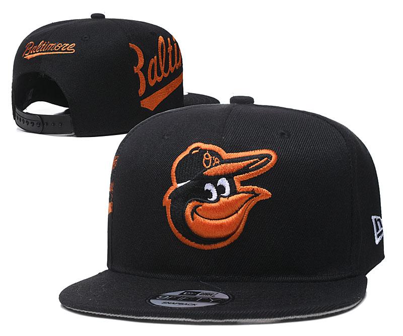 Orioles Team Logo Black Adjustable Hat YD