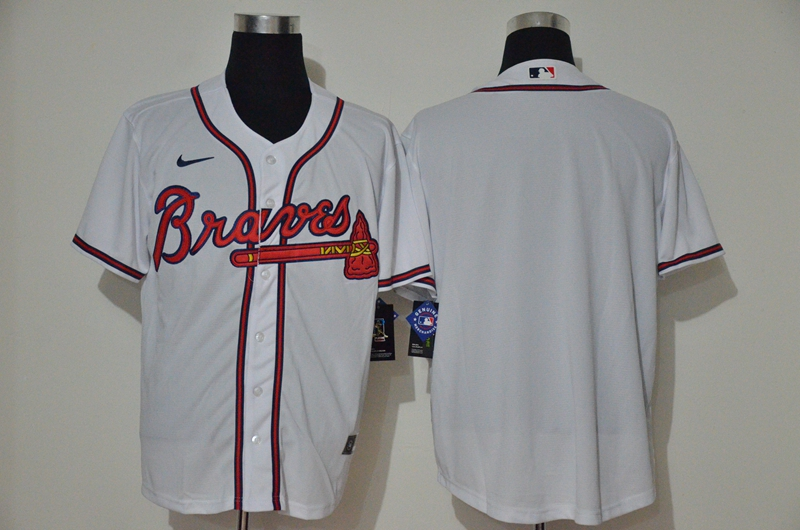 Braves Blank White Nike 2020 Cool Base Jersey