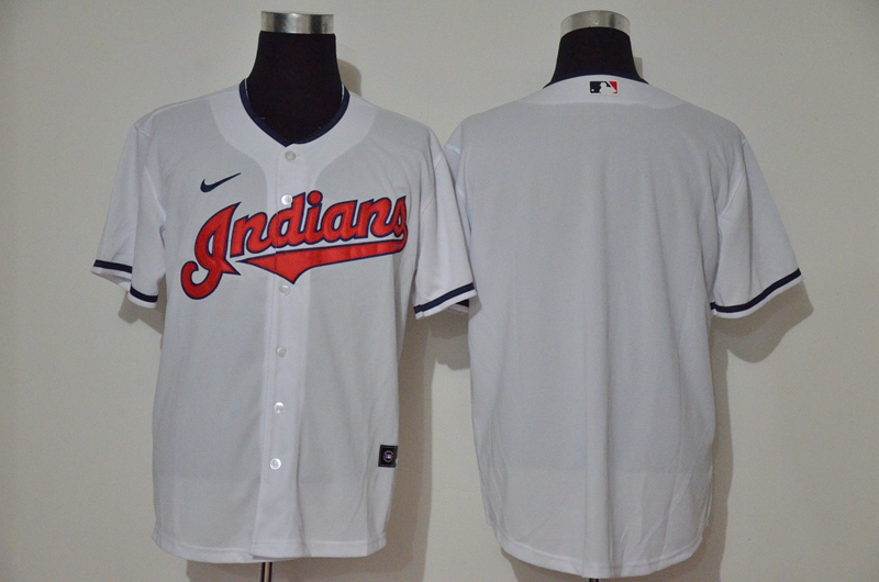 Indians Blank White Nike 2020 Cool Base Jersey