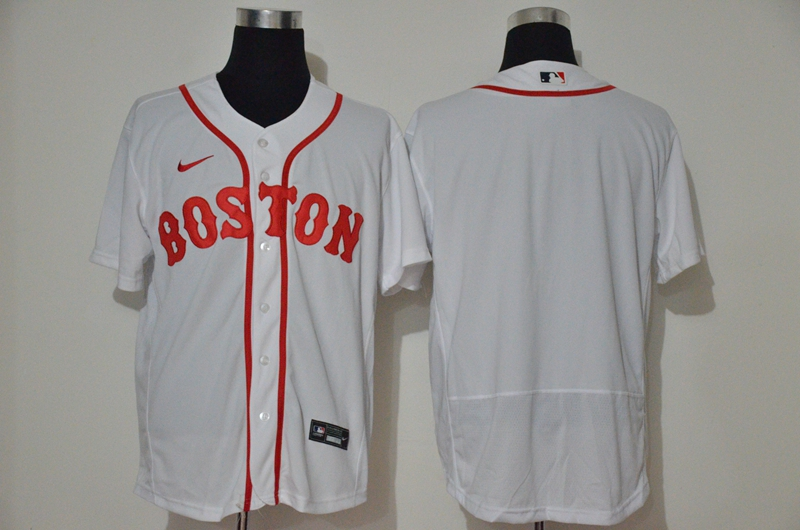 Red Sox Blank White 2020 Nike Flexbase Jersey