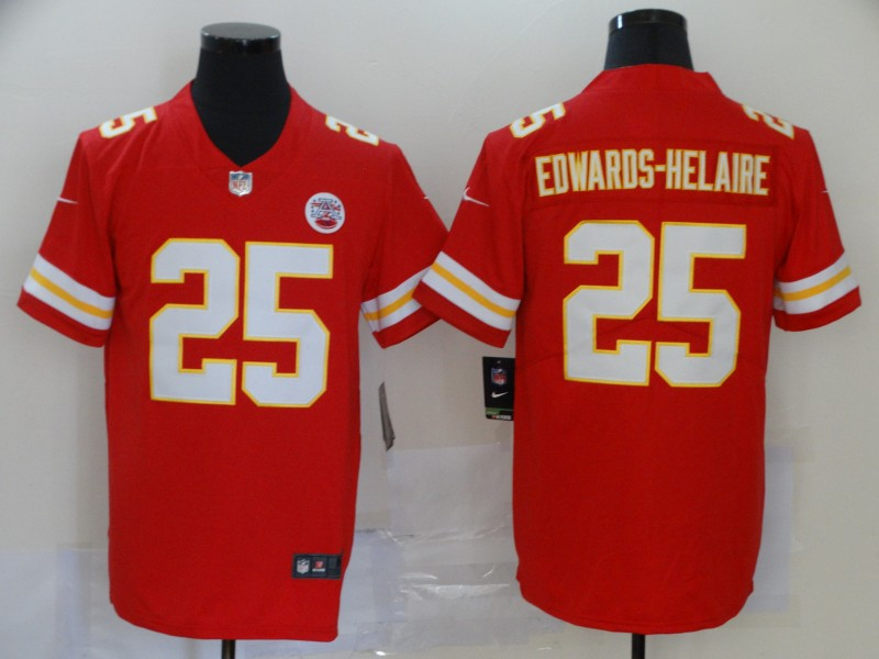 Nike Chiefs 25 Clyde Edwards-Helaire Red 2020 NFL Draft First Round Pick Vapor Untouchable Limited Jersey