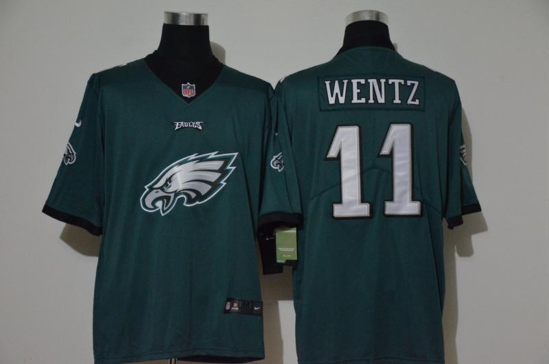 Nike Eagles 11 Carson Wentz Green Vapor Untouchable Limited Jersey
