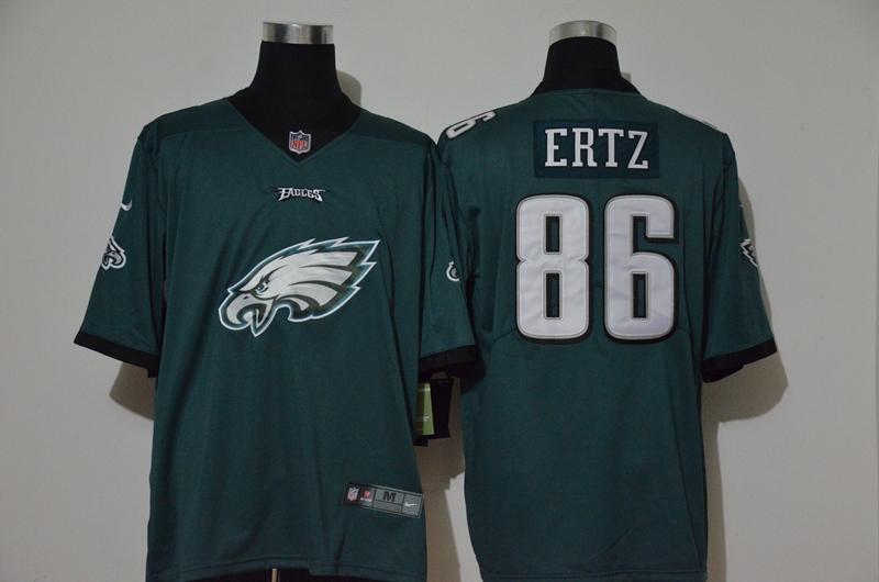 Nike Eagles 86 Zach Ertz Green Vapor Untouchable Limited Jersey