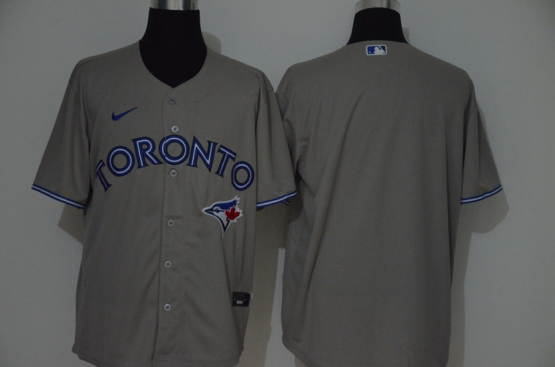Blue Jays Blank Gray 2020 Nike Cool Base Jersey