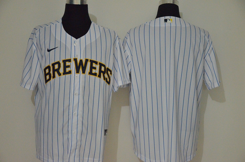 Brewers Blank White Nike 2020 Cool Base Jersey