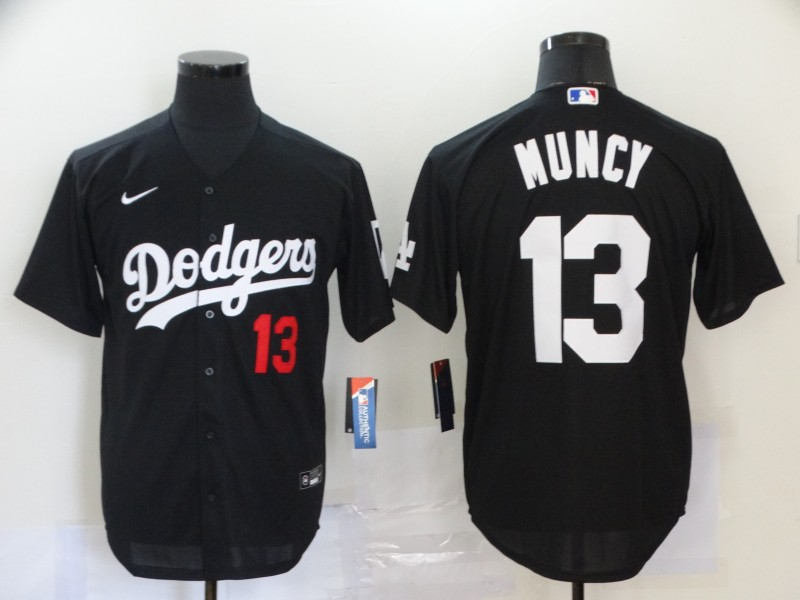 Dodgers 13 Max Muncy Black 2020 Nike Cool Base Jersey