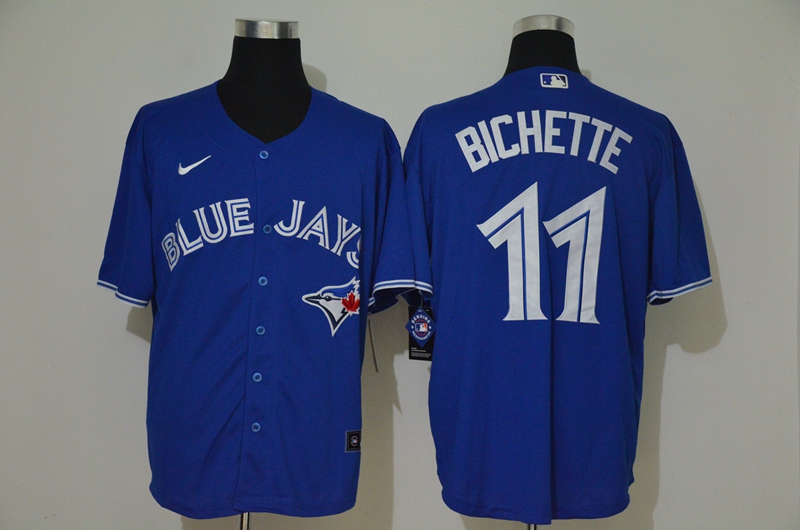 Blue Jays 11 Bo Bichette Royal 2020 Nike Cool Base Jersey