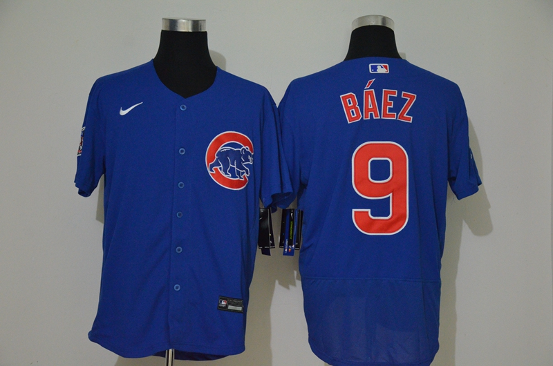 Cubs 9 Javier Baez Royal 2020 Nike Flexbase Jersey