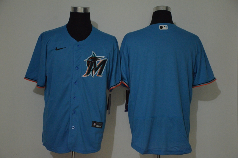 Marlins Blank Blue 2020 Nike Cool Base Jersey