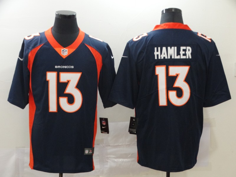 Nike Broncos 13 KJ Hamler Navy 2020 NFL Draft Vapor Untouchable Limited Jersey