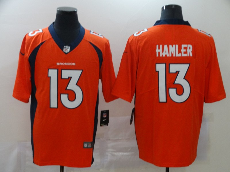 Nike Broncos 13 KJ Hamler Orange 2020 NFL Draft Vapor Untouchable Limited Jersey