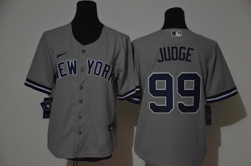 Yankees 99 Aaron Judge Gray Women 2020 Nike Cool Base Jersey