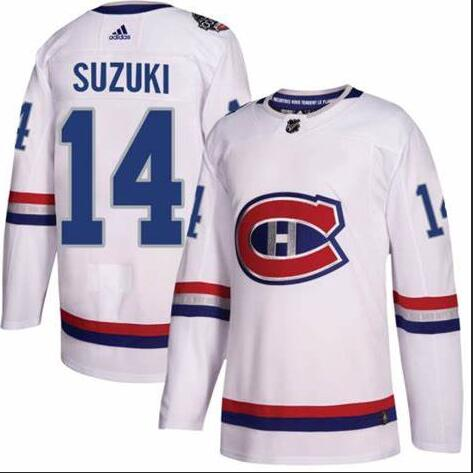 Canadiens 14 Nick Suzuki White Adidas Jersey