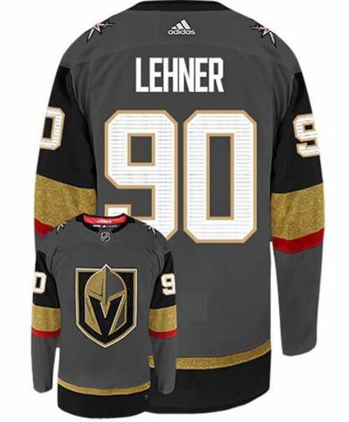Vegas Golden Knights 90 Robin Lehner Gray Adidas Jersey