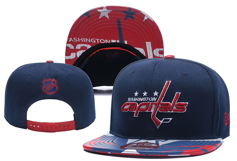 Capitals Team Logo Navy Adjustable Hat YD