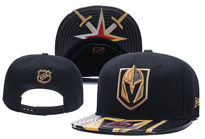 Vegas Golden Knights Team Logo All Black Adjustable Hat YD
