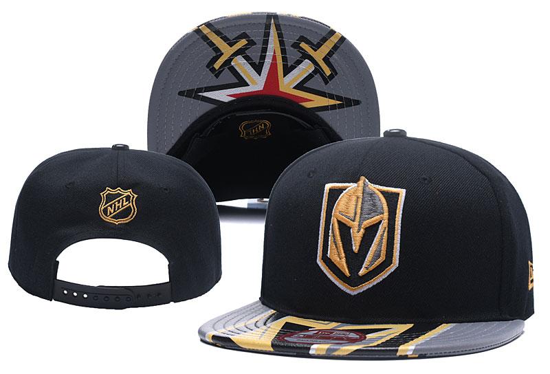 Vegas Golden Knights Team Logo Black Adjustable Hat YD