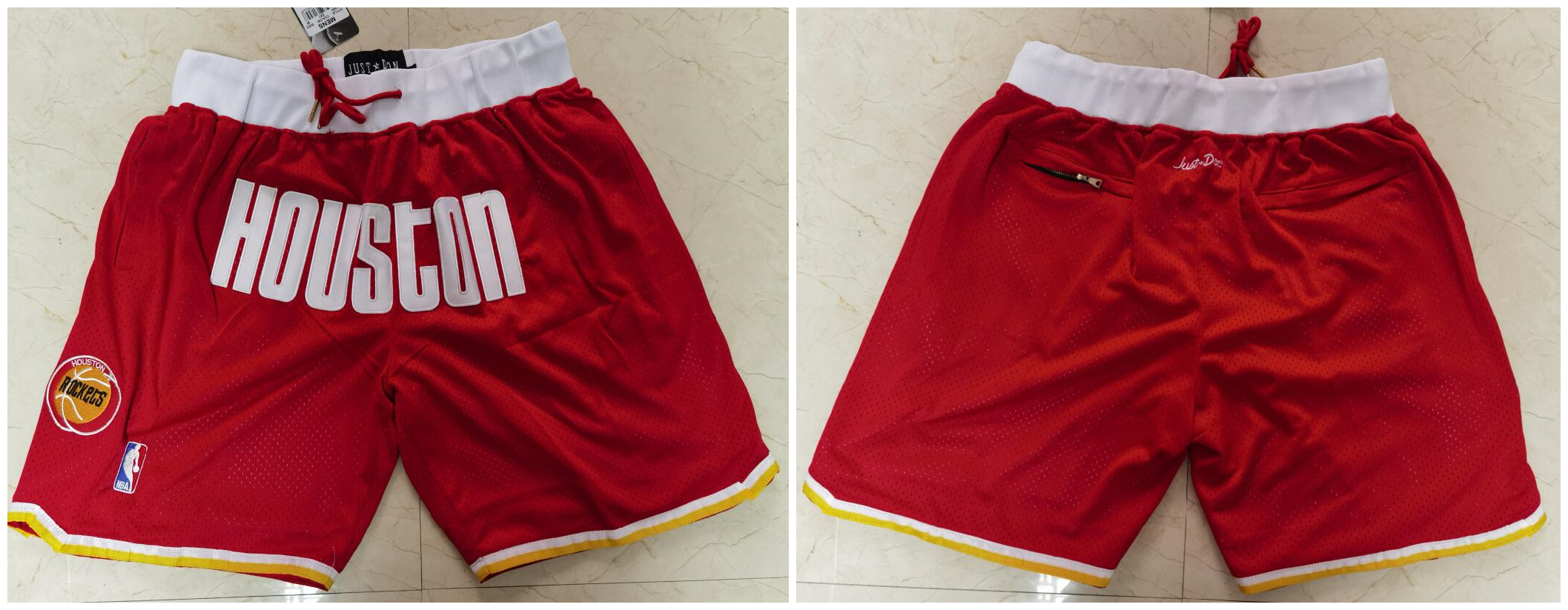 Rockets Red Just Don With Pocket Swingman Shorts
