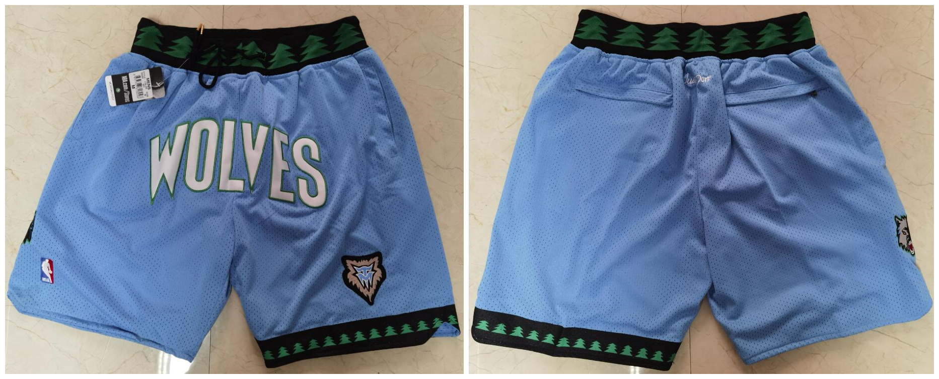 Timberwolves Blue Just Don With Pocket Swingman Shorts