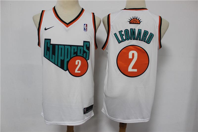 Clippers 2 Kawhi Leonard White Swingman Jersey