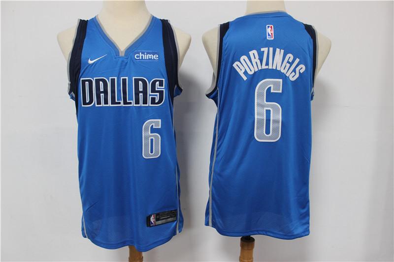 Mavericks 6 Kristaps Porzingis Blue Nike Swingman Jersey
