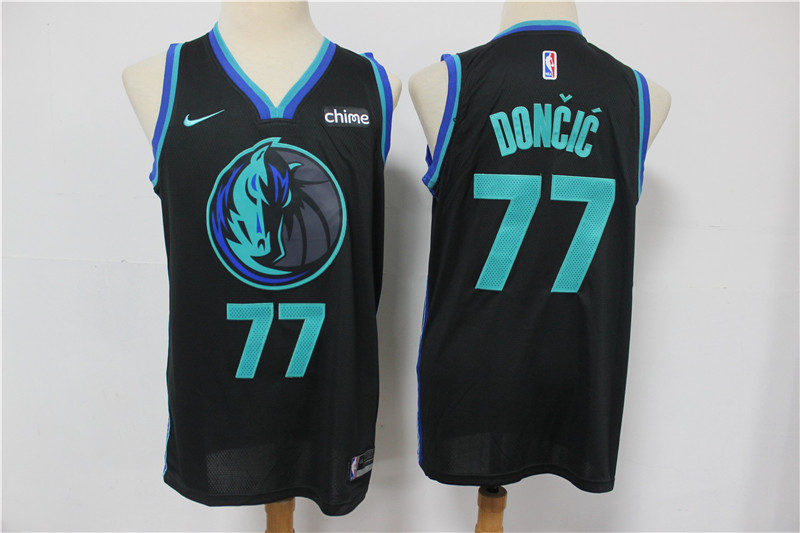 Mavericks 77 Luka Doncic Black 2019 City Edition Nike Swingman Jersey