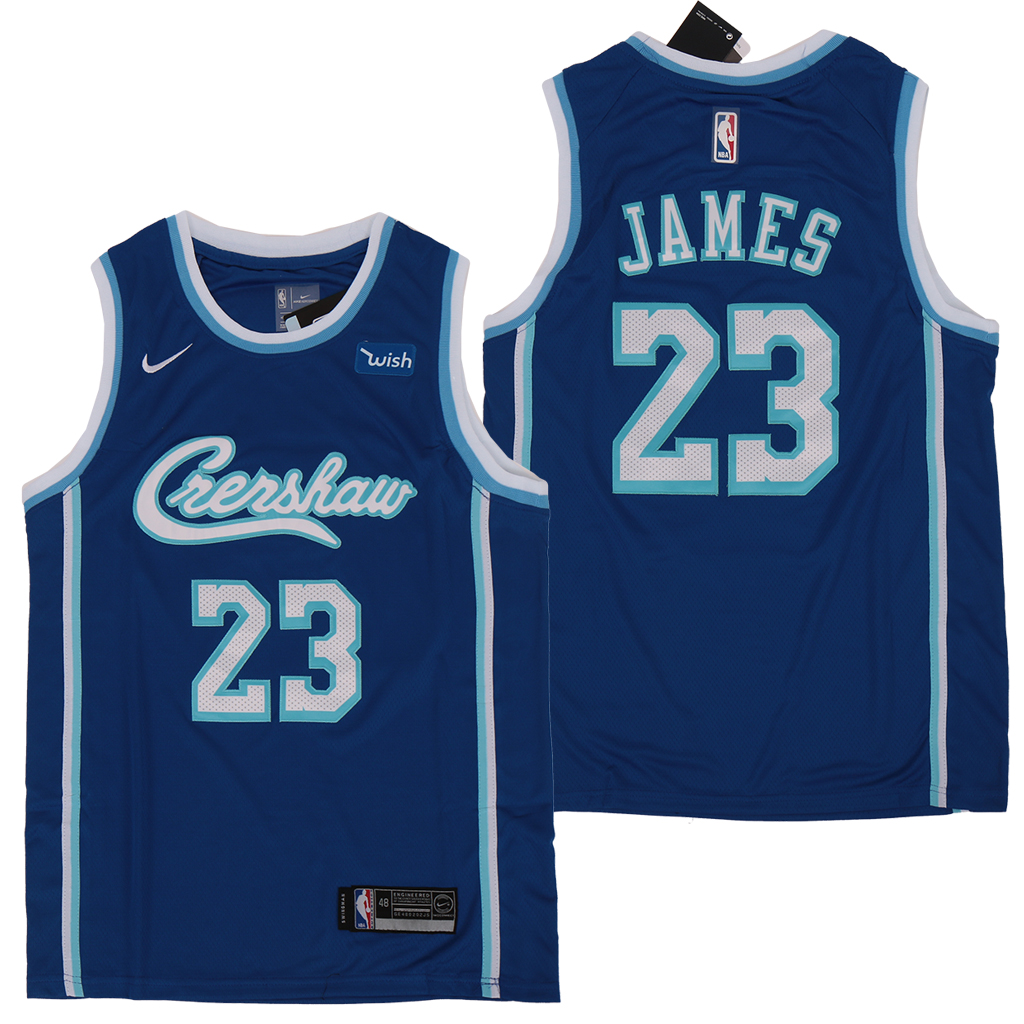 Lakers 23 Lebron James Light Blue Nike Swingman Jersey