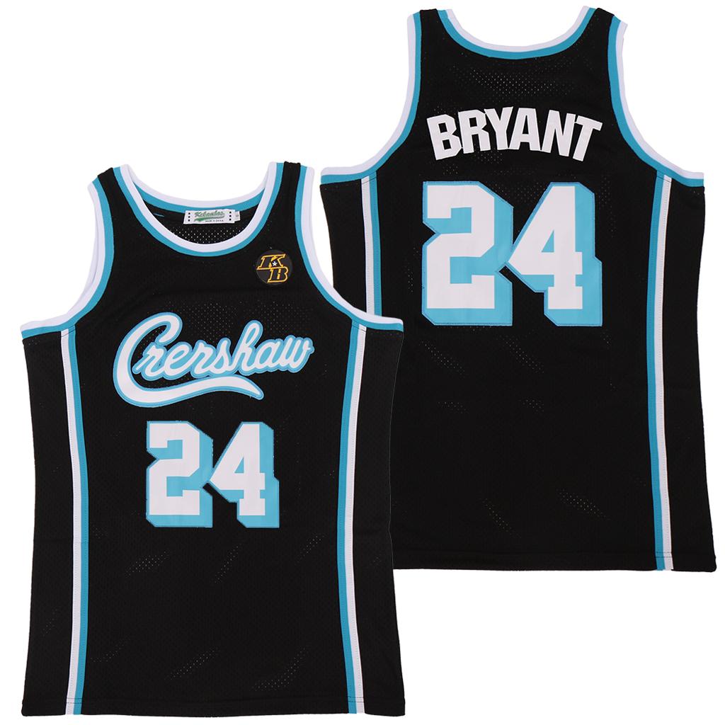 Lakers 24 Kobe Bryant Black KB Patch Swingman Jersey