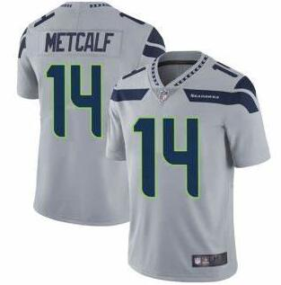 Nike Seahawks 14 DK Metcalf Gray Nike Vapor Untouchable Limited Jersey