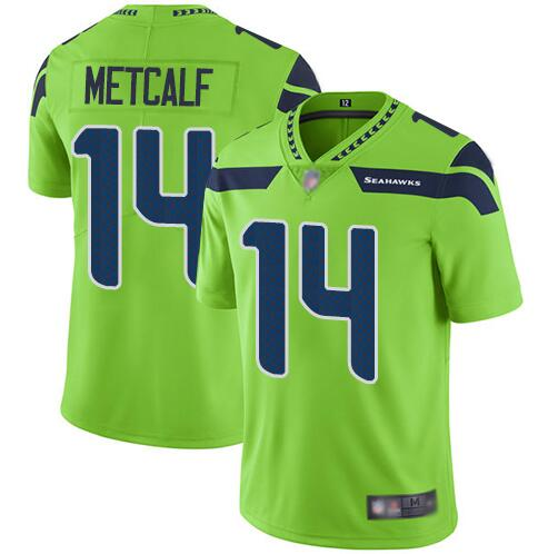 Nike Seahawks 14 DK Metcalf Green Nike Vapor Untouchable Limited Jersey