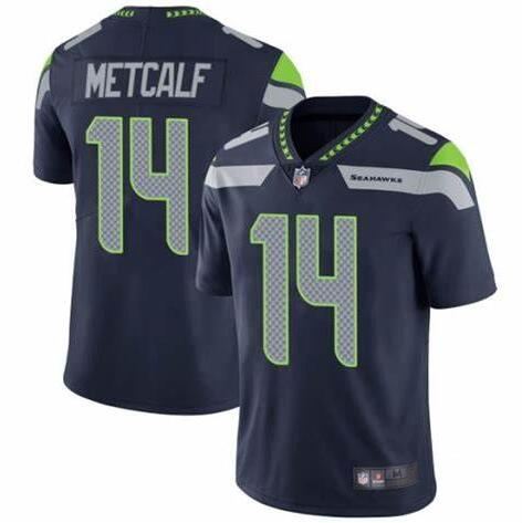Nike Seahawks 14 DK Metcalf Navy Nike Vapor Untouchable Limited Jersey