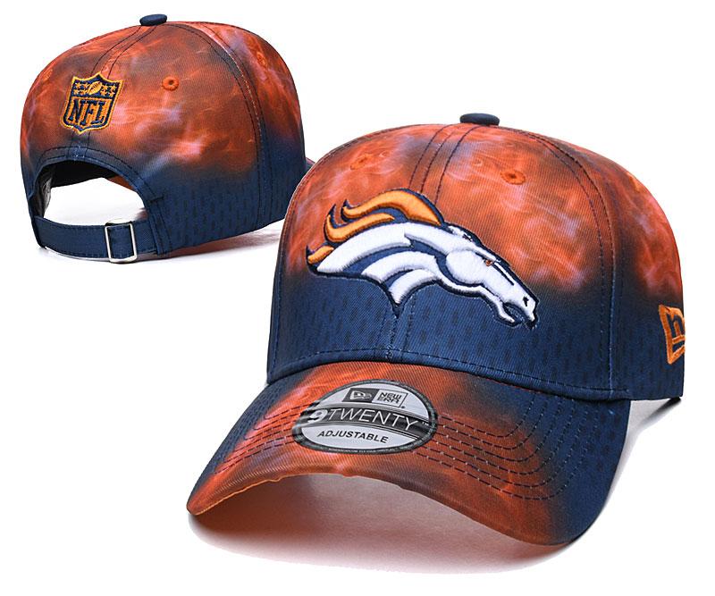 Broncos Team Logo Orange Navy Peaked Adjustable Hat YD
