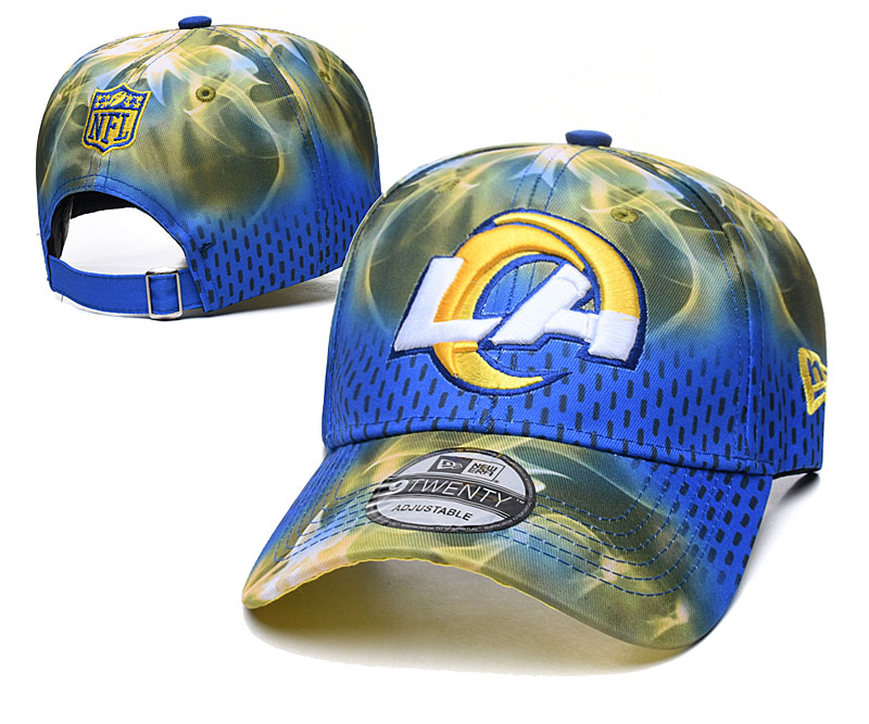 Chargers Team Logo Blue Yellow Peaked Adjustable Hat YD