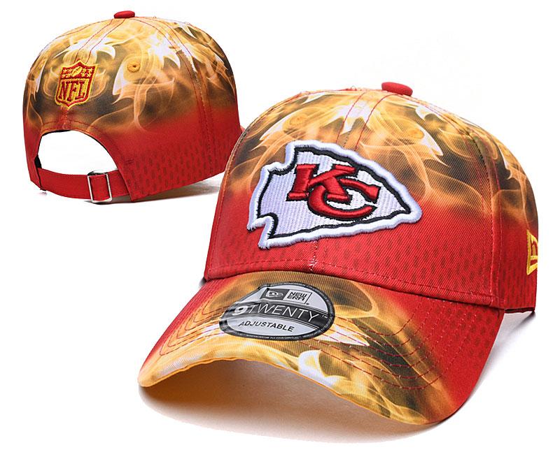 Chiefs Team Logo Orange Red Peaked Adjustable Hat YD