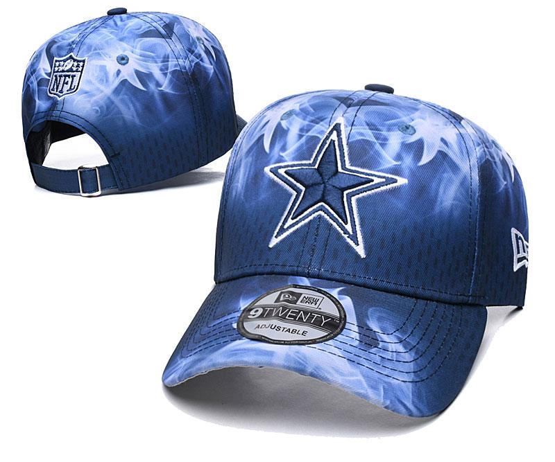 Cowboys Team Logo Navy Peaked Adjustable Hat YD