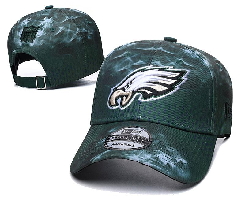 Eagles Team Logo Green Peaked Adjustable Hat YD