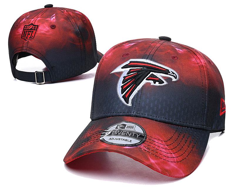 Falcons Team Logo Red Black Peaked Adjustable Hat YD