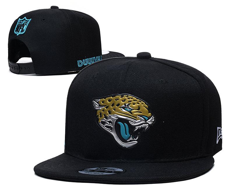 Jaguars Team Logo Black Adjustable Hat YD
